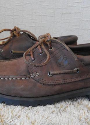 Топсайдеры lumberjack кожа италия 42р туфли мокасины