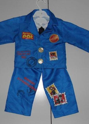 Детский костюм новогодний - почтальон - tu 1-2 yrs 80/92 cm - ...