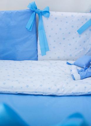 Бортики в детскую кроватку Хлопковые Традиции 30х30 см 12 шт Г...