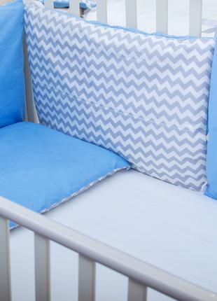 Бортики в детскую кроватку Хлопковые Традиции 40х60 см 3 шт Се...