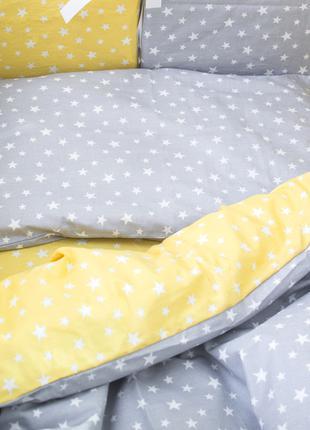 Бортики в детскую кроватку Хлопковые Традиции 30х30 см 12 шт С...