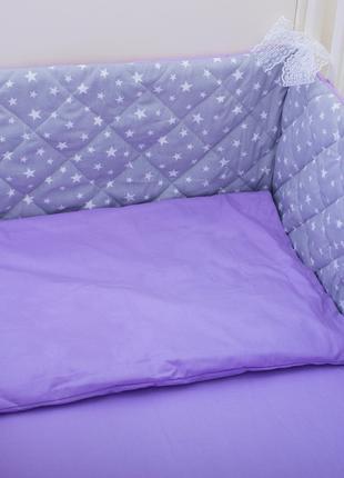 Бортики в детскую кроватку Хлопковые Традиции 180х30 см 2 шт Л...