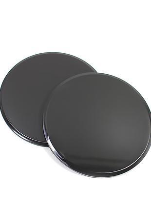Фитнес диски для глайдинга-скольжения Dobetters G1-2 Черный 2ш...