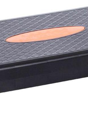 Степ-платформа LiveUp Power Step 68x28x10 см Black-Orange (LS3...