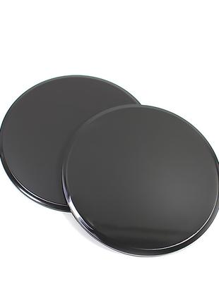 Фитнес диски для глайдинга-скольжения Dobetters G1-2 Black 2шт.