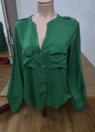 Zara рубашка вискоза
