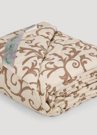 Одеяло IGLEN из овечьей шерсти в бязи Зимнее 110х140 см Капучи...