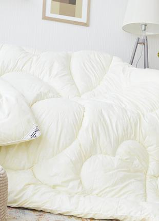 Одеяло с искуственного лебяжего пуха двухспальное Кремовое (hu...