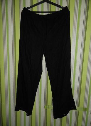 Летние штаны на резинке - лен - south uk 18 eu 44 - сток!!!