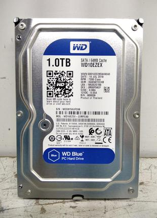 Б/У Жёсткий диск Western Digital (WD10EZEX) 1Тб SATA
