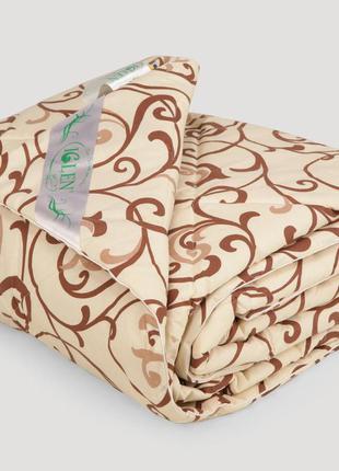 Одеяло IGLEN из овечьей шерсти в бязи Летнее 172х205 см Капучи...