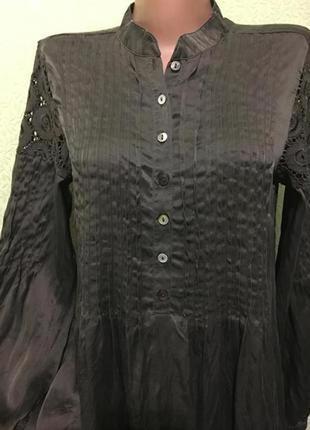 Шикарная шелковая блуза-туника☘️100% шёлк
