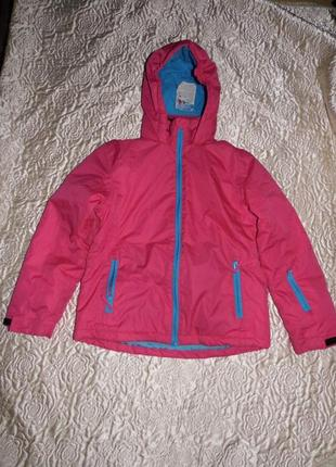 Лыжная куртка девочке - crane - 134-140 - tech tex - сток!!