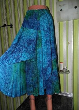 Бохо - стиль - пышная летняя юбка - вискоза - ozeanis m - сток!!!