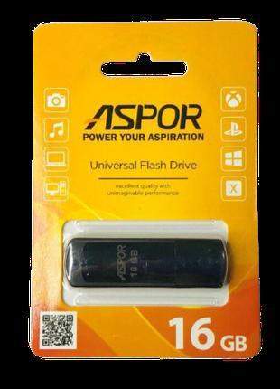 Флешка (USB Flash) Aspor AR011 16GB чёрная