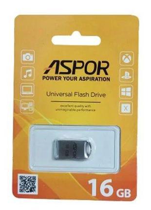 Флешка (USB Flash) Aspor AR105 16GB серебряная