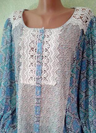 Нежная летняя блуза большого размера