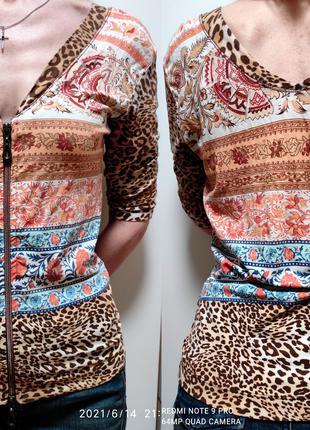 Женская блузка на молнии. 42р. XS/S. + бесп. дост. Киев
