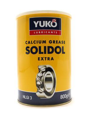 Смазка пластичная Солидол жировой 0.8 кг 1л. YUKO Юкойл