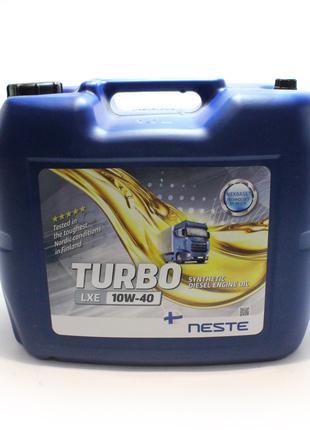 Масло моторное Neste Turbo LXE 10W-40 (20 л.) синтетическое