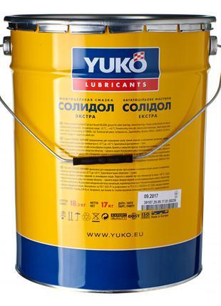 Смазка пластичная Солидол жировой 17 кг YUKO Юкойл