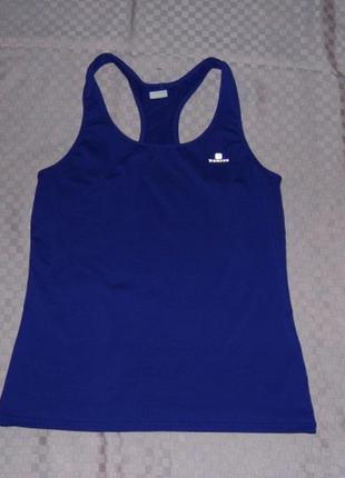Спортивная синяя  майка - борцовка - domyos - s - сток