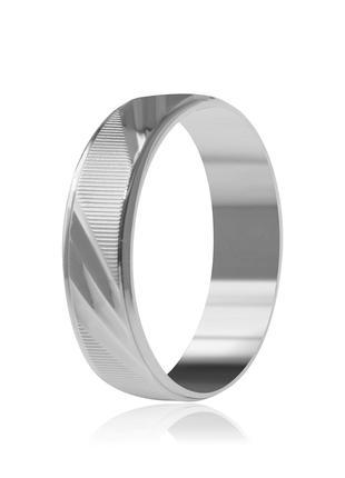 Обручальное кольцо серебряное К2/810 - 18,5