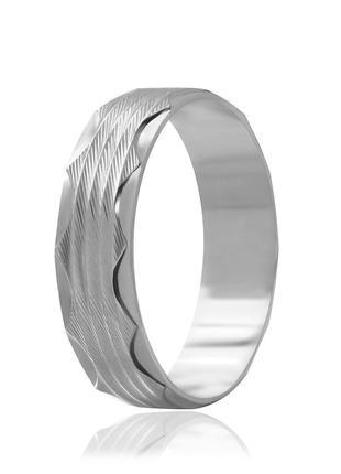 Обручальное кольцо серебряное К2/811 - 19,5