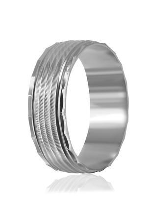 Обручальное кольцо серебряное К2/814 - 18,5