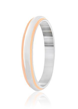 Обручальное кольцо серебряное позолоченное К23/402 - 19,5