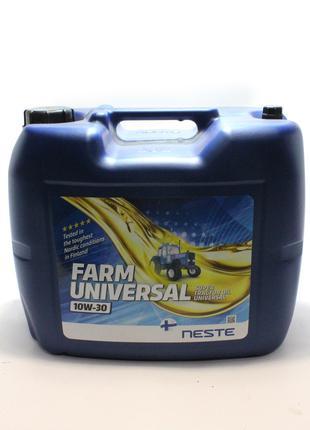 Масло универсальное Neste Farm Universal 10W-30 (20 л.) полуси...