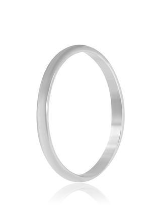 Обручальное кольцо серебряное К2/800 - 18,5