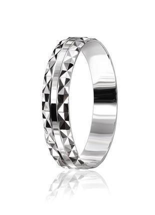 Обручальное кольцо серебряное К2/534 - 18,5