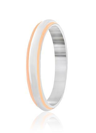Обручальное кольцо серебряное позолоченное К23/402 - 17,5