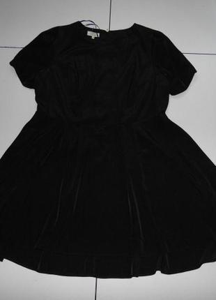 Черное платье с золотой молнией сзади - papaya weekend uk 20 -...