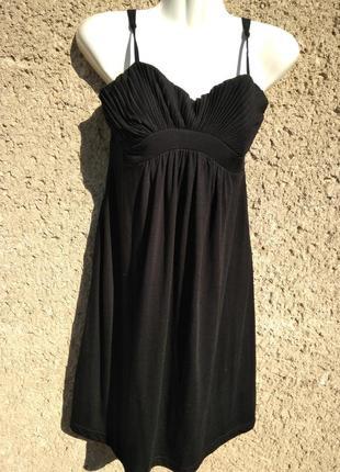 Платье сарафан летнее черное S