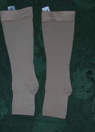 Компрессионные гольфы  2 класс с открытым носком - 2 размер- г...