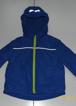 Куртка дождевик на флисе мальчику - pocopiano 128 -германия