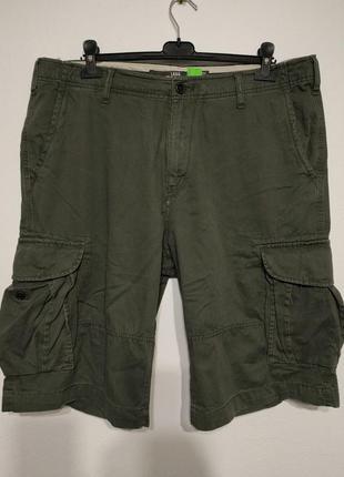 W38 w40 h&m шорты карго хаки олива с карманами zxc