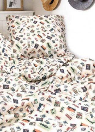 Комплект постельного белья евро Вилюта ранфорс 20125