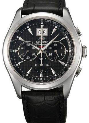 Водонепроницаемые кварцевые наручные часы Orient FTV01004B0 Ch...