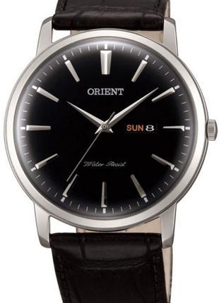 Мужские наручные часы Orient FUG1R002B6 кварцевые с кожаным бр...