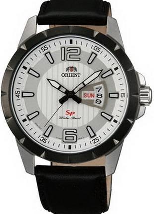 Мужские наручные часы Orient FUG1X003W9 кварцевые с кожаным бр...