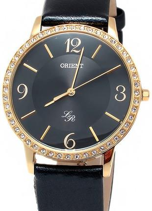 Женские наручные часы Orient FQC0H003B0 кварцевые с кожаным ре...