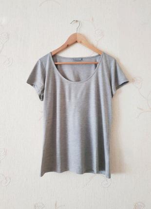 Бзовая футболка Per una, серая, бежевая