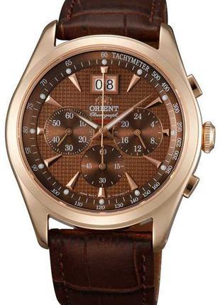 Водонепроницаемые кварцевые наручные часы Orient FTV01001T0 Ch...
