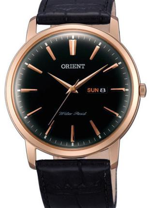 Мужские наручные часы Orient FUG1R004B6 кварцевые с кожаным бр...