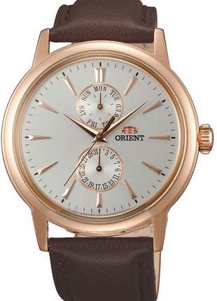 Мужские наручные часы Orient FUW00002W0 кварцевые с кожаным бр...