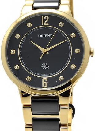 Женские наручные часы Orient FQC0J003B0 CERAMIC кварцевые с ми...