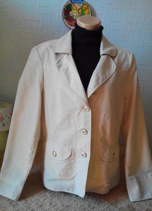 Лёгкий коттоновый жакет пиджак,весна, лето, steilmann.